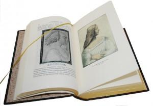 """Разворот дорогой книге в кожаном переплете - """"Леонардо да Винчи"""""""