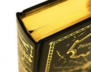 """Фото обреза подарочной книги """"Таинственный остров"""""""