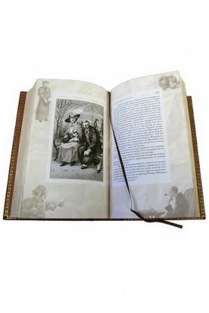 """Иллюстрация к кожаной книге """"Приключения Шерлока Холмса"""""""