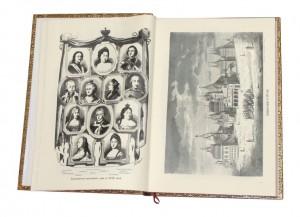 Разворот подарочного издания Альбом 200-летнего юбилея императора Петра Великого