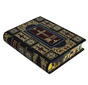 Библия с иллюстрациями русских художников в кожаном переплете