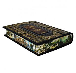 Красивый крашеный обрез подарочной Библии с иллюстрациями русских художников - фото 2