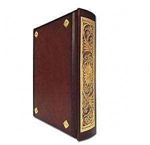 Библия с филигранью ручной работы покрытая золотом фото 3