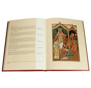 """Разворот подарочной книги """"Библия в миниатюрах Палеха"""""""