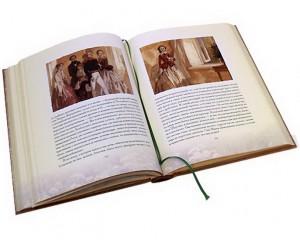 """Разворот подарочной книги """"Дворянское гнездо. Накануне"""""""