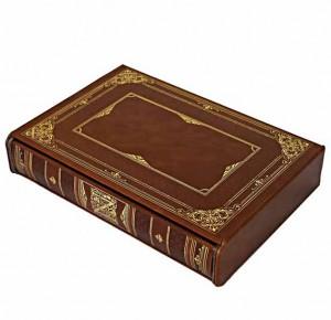 Репринтная книга в кожаном переплете История Наполеона