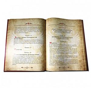 Книга в кожаном переплете Конституция Российской Федерации - фото 4