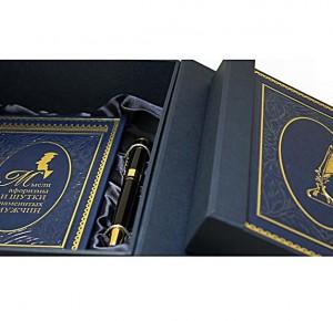 Книга, ежедневник, ручка в подарочном наборе Мысли, афоризмы и шутки знаменитых мужчин