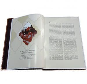 Московский Кремль книга на английском языке в кожаном переплете