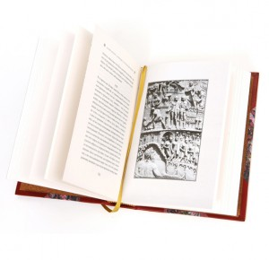 """Иллюстрация к книге в кожаном переплете """"Мудрость римских правителей"""""""