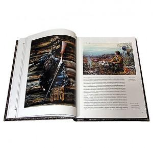"""Разворот подарочной книги с иллюстрациями """"Охота по перу"""" Фото 1"""
