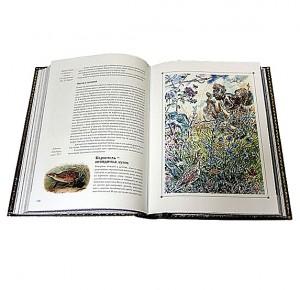 """Разворот подарочной книги с иллюстрациями """"Охота по перу"""" Фото 4"""