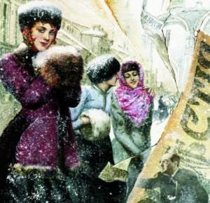 """Иллюстрация изподарочного издания """"Окаянные дни"""" Бунин И. А."""