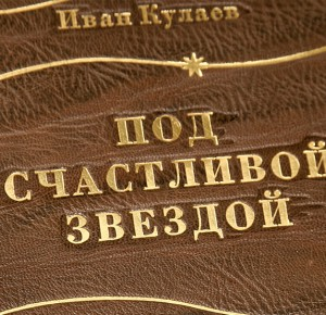 """""""Под счастливой звездой"""" книга в кожаном переплете"""