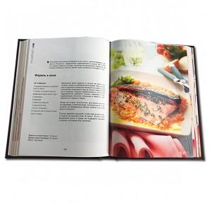 """Разворот книги """"Школа Кулинарного Мастерства"""" с иллюстрацией"""