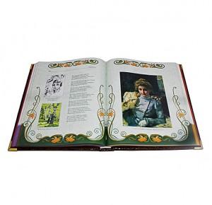 Разворот подарочной книги Серебряный век русской поэзии