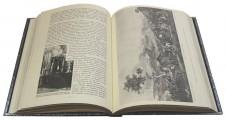 Подарочная книга в развороте Война русского народа с Наполеоном 1812 года