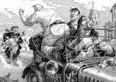 """""""Золотой теленок"""" - иллюстрация к дорогой кожаной книге """"Золотой теленок"""""""