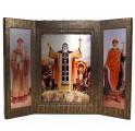 """иконостас-складень подарочного издания """"Русские святые. Жизнь и деяния"""""""