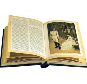 """Разворот книги в подарок руководителю """"Ваш Лев Толстой"""" (серебро)"""