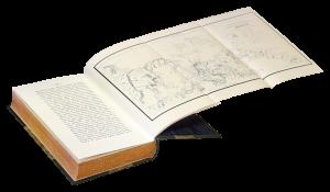 Разворот книги Путешествие по северным берегам Сибири и по Ледовитому морю фон Врангеля