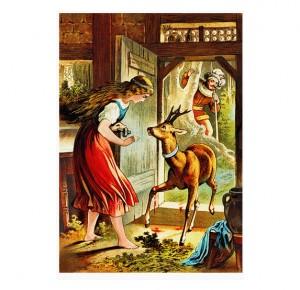 """Иллюстрация к подарочной книге для детей """"Золушка"""""""