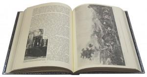 """Разворот эксклюзивной книги в кожаном переплете """"Война русского народа с Наполеоном 1812 года"""""""