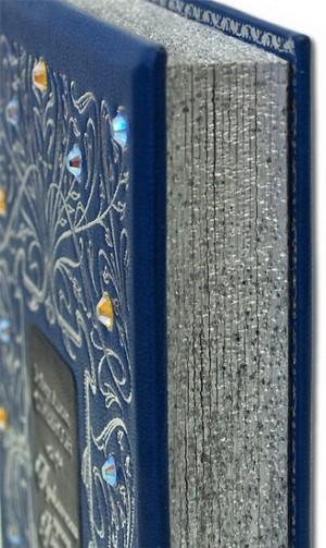 """Фото серебряного обреза дорогой книги """"Приключения принца Флоризеля"""""""