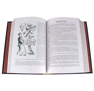 """Разворот подарочной книги """"Собрание юмористических рассказов"""" А. П. Чехов"""