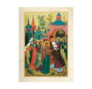 """Дорогая православная книга """"Евангелие в красках Палеха"""" - иллюстрация"""