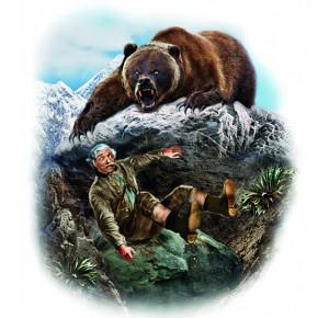 """Иллюстрация к подарочному изданию """"Золотой браслет. Охотники на медведя"""""""