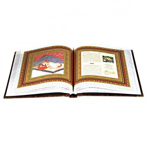 Разворот подарочной книги Камасутра с иллюстрациями