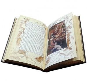 """Разворот книги в кожаном переплете """"Огненный ангел"""""""