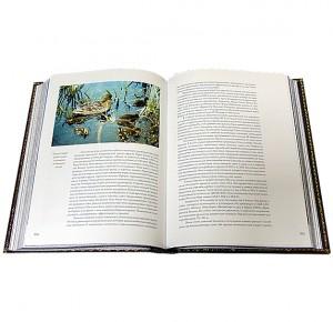 """Иллюстрации к подарочной книге в кожаном переплете """"Охота по перу"""""""