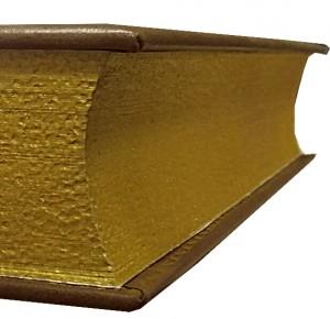 Трехсторонний золотой торшонированный обрез