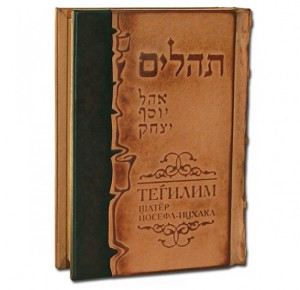 Книга в кожаном переплете Тегилим