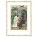 Иллюстрация из дорогой книги Библия. Книги Священного Писания Ветхого и Нового Завета