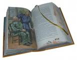 Иллюстрации к книге в кожаном переплете «Похождения бравого солдата Швейка во время мировой войны»