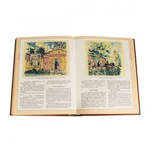 Разворот книги из собрания сочинений классиков